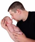 avla hans isolerade nyfödda snuggling Royaltyfri Foto