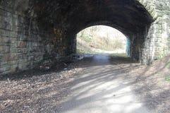 Avlagd järnväg tunnel Arkivbild