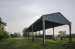 Avlagd lantgårdbyggnad Arkivfoton