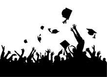avläggande av examendeltagarevektor Arkivfoton