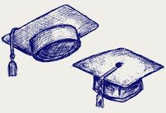 Avläggande av examenlock Arkivbild