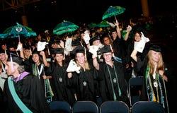 avläggande av examenuniversitetar Royaltyfri Fotografi