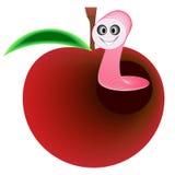Avmaska äpplet Arkivfoto