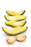 Avo�ado slices Stock Photo