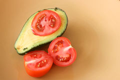 Avo And Tomato Royalty Free Stock Photo