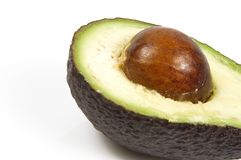 Avocado. Tasty avocado isolated one a white background Royalty Free Stock Photo
