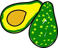 Avocado vector illustratie