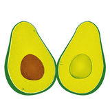 Avocado vector Royalty Free Stock Photography