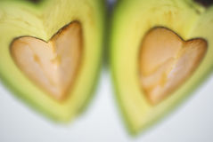 Avocado. Cut avocado on white background , tropical fruit Stock Images