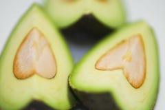 Avocado. Cut avocado on white background , tropical fruit Stock Photo