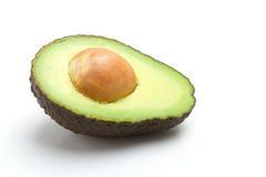 Avocado. One white isolated background Royalty Free Stock Photos