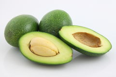 Avocado. A fresh avocado cut in half Royalty Free Stock Image