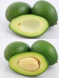 Avocado. A fresh avocado cut in half Stock Photos