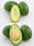 Avocado. A fresh avocado cut in half Stock Photo