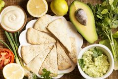 Avocado appetizer stock photo