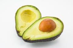 Avocado auf einem weißen Hintergrund Lizenzfreie Stockbilder