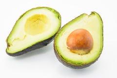 Avocado auf einem weißen Hintergrund Lizenzfreie Stockfotos