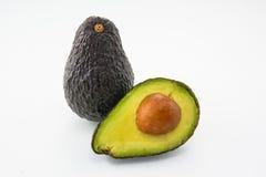 Avocado auf einem weißen Hintergrund Lizenzfreies Stockbild