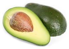Avocado auf weißem Hintergrund Stockfotos