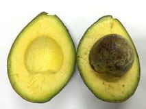 Avocado auf weißem Hintergrund Lizenzfreies Stockfoto