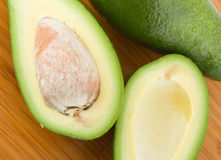Avocado on a bamboo board Stock Photography