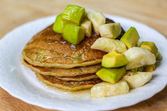 Avocado Banana Pancake royalty free stock image