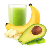 Avocado banana smoothie Stock Images