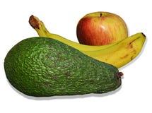 Avocado, bananas and apple Royalty Free Stock Photography