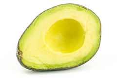 Avocado. A beautiful half avocado isolated Royalty Free Stock Photo