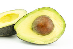 Avocado. A beautiful half avocado isolated Stock Photos