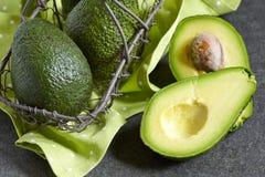 Avocado on a black background Stock Photo