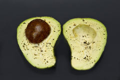 Avocado on black Royalty Free Stock Image