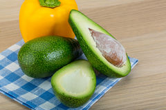Avocado with bulgarian pepper Royalty Free Stock Photos