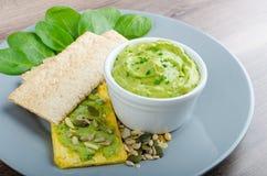 Avocado-Buttermilk Green Goddess Dip Stock Images
