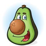 Avocado Cartoon Character. A smiling green avocado cartoon character with a big round pit for a nose Stock Photography