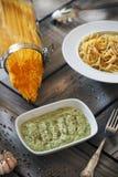 Avocado che condisce salsa Fotografie Stock