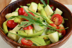 Avocado cherry tomato argula leave salad Stock Images