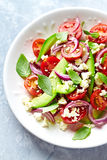 Avocado and Cherry Tomato Salad Stock Photo