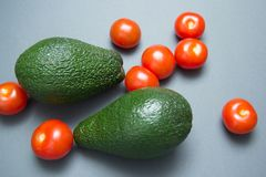 Avocado cherry tomatoes royalty free stock images