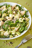 Avocado and chicken salad Royalty Free Stock Photo