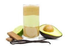 Avocado chocolate smoothie stock photo