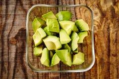 Avocado chopped Stock Photography