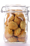 Avocado cookies in a jar Royalty Free Stock Photos