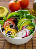 Avocado and corn salad Stock Photography