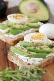 Avocado and cream cheese Royalty Free Stock Images