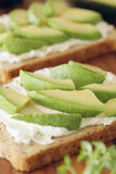 Avocado and cream cheese Royalty Free Stock Photo