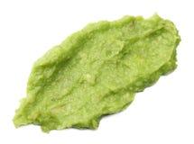 Avocado cream isolated on white background. Healthy food Stock Image