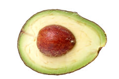 Avocado cut in half Stock Photos