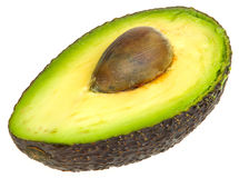 Avocado cut in Half Stock Photo