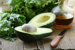 Avocado cut in half Royalty Free Stock Photography